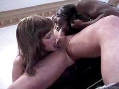 Threesome, Interracia, Blowjob