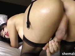 Toys, Solo, Stroke, Ladyboy, Shemale, Asian