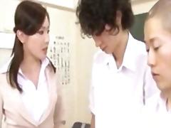 آسيوى, طلاب, يابانيات, المعلم