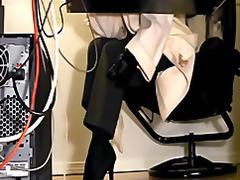جوارب طويلة, في المكتب, استراق النظر, ملابس داخلية