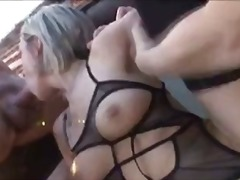 Mmf, Blowjob, Blonde, Hardcore, Riding, Bisexual, Threesome