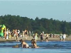 Beach, Public, Amateur