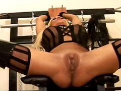 Clit, Pain, Closeup, Bdsm, Fetish, Big, Enema, Latex