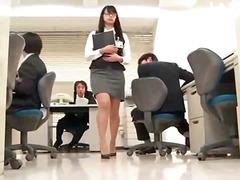 مداعبة, آسيوى, في المكتب, نيك لطيف, يابانيات