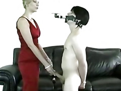 Femdom, Brunette, Bondage, Domination, Slave, Bdsm, Handjob
