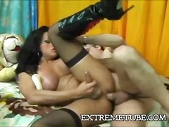 Condom, Guy, Ride, Tits, 69, Dirty, Orgasm, Stocking