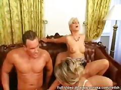 Hungarian, Group, Dykes, Dildo, Foursome, Anal