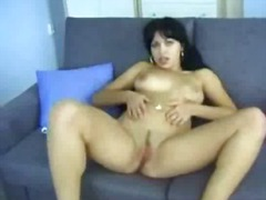 Pussy, Erotic, Couch, Homemade, Tits, Brunette, Rubbing