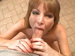 Busty, Masturbation, Penis, Darla Crane, Cock, Monstercock, Titjob, Brunette