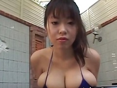 Brunette, Nipples, Big, Big Ass, Outdoor, Asian, Model, Outdoors