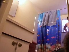 مؤخرة كبيرة, مراهقات, حمام, عراه, تجسس, كاميرا مخفية