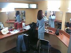 Voyeur, Brunette, Mirror, Candid, Boots, Spy, Stockings, Hidden