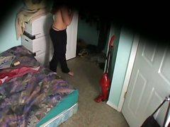 Լրտես, Թաքնված Տեսախցիկ, Անկողին, Աղջիկ, Հագնված, Տկլոր