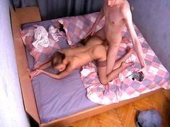 استراق النظر, كاميرا مخفية, على السرير, بنات, نيك قوى