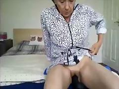 干熟女, 真实拍摄, 家庭性爱录像