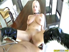 Tits, Pussy, Boots, Shaved, Fucking, Blonde, Big
