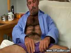 Wanking, Bear, Masturbation, Solo, Gay