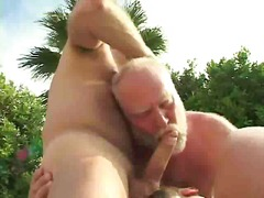 Threesome, Outdoor, Outdoors, Cumshot, Gay, Bear