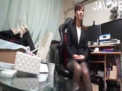 لعبة, هواه, في المكتب, جوارب طويلة, يابانيات