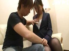 قبلات, آسيوى, في المكتب, جوارب طويلة, يابانيات