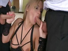 Big, Threesome, Penetration, Tits, Colette W., Big Boobs, Double