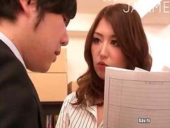 فموى, يابانيات, تستمنى زبه بيدها, في المكتب, نيك جامد