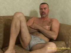 Solo, Masturbation, Big, Cock, Jerking, Bear
