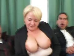 مامان, خانه دار, مادر بزرگ, 2کیر 1 کون, سکس 3 نفره, مو بور