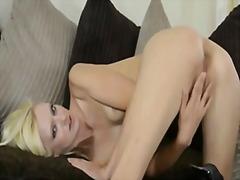 Masturbation, Tease, Blonde, Skinny, Big Ass, Strip, Heels, Petit