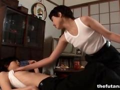 Japanese, Panties, Foreplay, Shemale