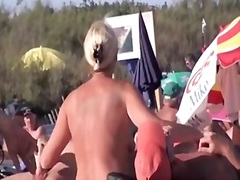 Woman, Men, Nudist, Cock, French, Beach