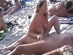 Husband, Handjob, Stranger, Woman, Beach, Swingers, More, Masturbation