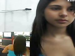 Latin, Webcam, Girls, Office, Solo, Masturbation
