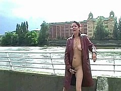 Fingering, Solo, Bench, Masturbation, Public, Flashing