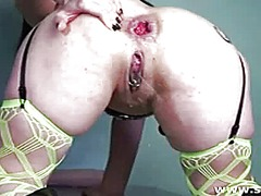 Insertion, Vaginal, Brutal, Tattoo, Massive, Penetration, Giant, Toys